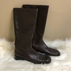 Easy Spirit Renton brown leather riding boots